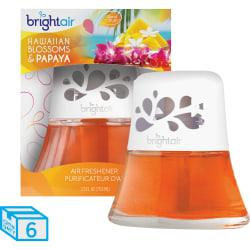 Bright Air Scented Oil Air Freshener, Hawaiian Blossoms & Papaya Scent, 2.5 Oz, Pack of 6