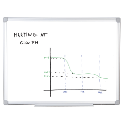"""MasterVision™ Earth Silver Easy-Clean™ 80% Recycled Dry-Erase Board, 48"""" x 72"""""""