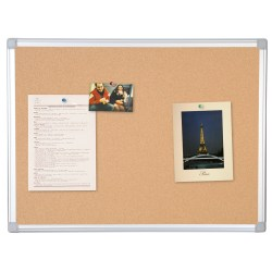 """MasterVision® Earth Cork Board, 48"""" x 72"""", 80% Recycled, Aluminum Frame With Silver Finish"""