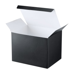 """OfficeMax® Folded Boxes, 6"""" x 4 1/2"""" x 4 1/2"""", Blue, Pack Of 100"""