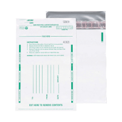 """Quality Park Night Deposit Bags, 10"""" x 13"""", White, Pack Of 100"""