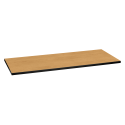 "HON Huddles Series™ Multipurpose Table Top, 60""W x 24""D, Harvest/Black"