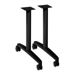 HON® Huddle T-Leg Table Base, Black
