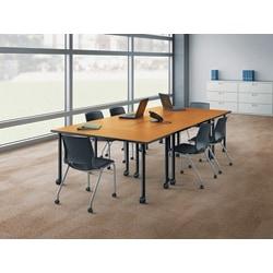 """HON® Huddle Flip-Top Base For 24""""D Table, Black"""