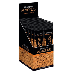 Wonderful Dry Roasted And Salted Almonds, 1.5 Oz, Box Of 12 Bags