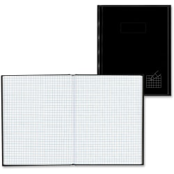 """Blueline® Brand 50% Recycled Composition Book, 7 1/4"""" x 9 1/4"""", Quadrille Ruled, 96 Sheets, Black"""