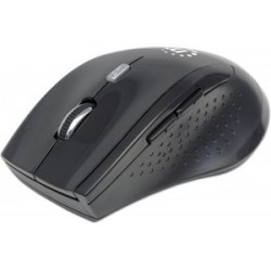 Manhattan Curve Wireless Optical Mouse - Optical - Wireless - Radio Frequency - Black - USB - 1600 dpi - Scroll Wheel - 5 Button(s)