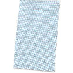 "Ampad Cross - section Quadrille Pads - Legal - 40 Sheets - Glue - 20 lb Basis Weight - 8 1/2"" x 14"" - White Paper - Chipboard Backing - 40 / Pad"