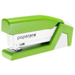 "PaperPro inJOY Compact Stapler - 20 Sheets Capacity - 105 Staple Capacity - Half Strip - 1/4"" Staple Size - Green"
