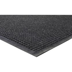 "Genuine Joe Waterguard Floor Mat - 10 ft Length x 36"" Width - Rectangle - Rubber - Charcoal"