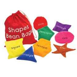 Learning Resources Shapes Bean Bags, Set Of 8