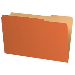 Pendaflex® Legal-Size Interior File Folders, 1/3 Cut, Orange, Box Of 100