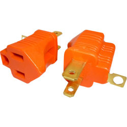 Professional Cable 3 Prong to 2 Prong Grounding Converter - AC Power