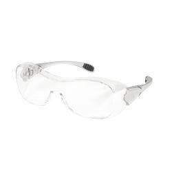 Crews Law Over-The-Glasses Safety Glasses, Gray Frames, Clear Antifog Lenses