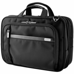 """Codi Phantom Carrying Case (Messenger) for 16"""" Notebook - Black - Ballistic Nylon, Leather Handle - Checkpoint Friendly - Handle, Shoulder Strap, Trolley Strap - 11.5"""" Height x 16.5"""" Width x 6.5"""" Depth"""