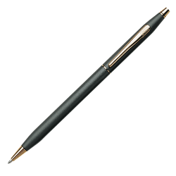 Cross® Classic® Century® Ballpoint Pen, Medium Point, 1.0 mm, Classic Black Barrel, Black Ink