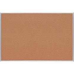 "Lorell® Basic Aluminum Frame Cork Board, 36"" x 24"", Brown Aluminum Frame"