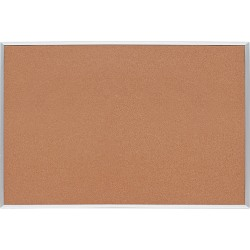 "Lorell® Basic Aluminum Frame Cork Board, 48"" x 36"", Brown Aluminum Frame"