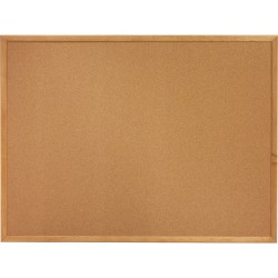 "Lorell® Wood Frame Cork Board, 24"" x 18"", Wood Frame With Oak Finish"