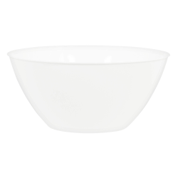 "Amscan 5-Quart Plastic Bowls, 11"" x 6"", Frosty White, Set Of 5 Bowls"