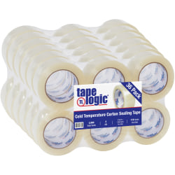 "Tape Logic® #7651 Cold Temperature Tape, 3"" Core, 2"" x 110 Yd., Clear, Case Of 36"