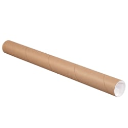 "Office Depot® Brand Mailing Tubes With Caps, 2"" x 22"", 80% Recycled, Kraft, Case Of 50"