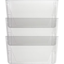 "Sparco Stak-A-File Vertical Filing Systems - 14.5"" Height x 13.1"" Width x 4.3"" Depth - Wall Mountable - Clear - 3 / Pack"