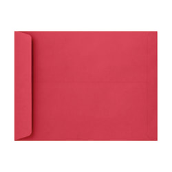 """LUX Open-End Envelopes With Peel & Press Closure, #6 3/4, 10"""" x 13"""", Holiday Red, Pack Of 1,000"""