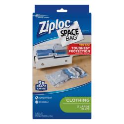 Ziploc® Space Bags, Jumbo, Clear, Pack Of 3