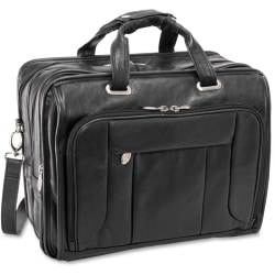 "McKleinUSA West Town S Series Checkpoint-Friendly Wheeled Laptop Case, 17"" x 9.5"" x 13"", Black"