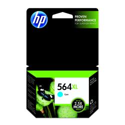 HP 564XL High Yield Cyan Original Ink Cartridge (CB323WN)
