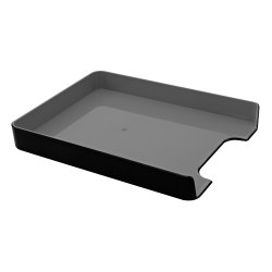 "Advantus Fusion Letter Tray, 12 13/16""H x 1 3/4""W x 10 1/8""D, Black/Gray"
