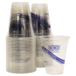 Eco-Products BlueStripe Cold Cups, 12 Oz, Clear, Pack Of 50