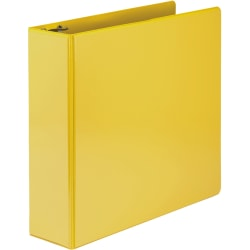 "Samsill® Economy View 3-Ring Binder, 3"" Round Rings, Yellow"