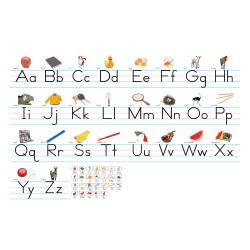 "North Star Teacher Resources Alphabet Lines, 7 5/8"" x 24 1/4"", Traditional Manuscript, Pre-K - Grade 8, Pack Of 7"