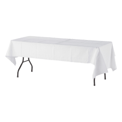 "Tatco White Paper Table Covers, 54"" x 108"", White, Box Of 20"