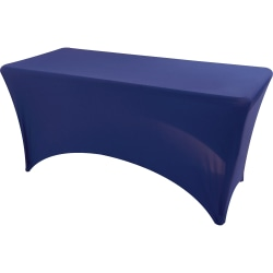 """Iceberg Stretch Fabric Table Cover, 72"""" x 30"""", Blue"""