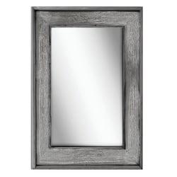 "PTM Images Framed Mirror, Bone Wood, 36""H x 24""W, Graywash"