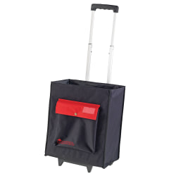 """Learning Resources Nylon Organization Caddy With Telescoping Handle, 15""""H x 17 1/2""""W x 10""""D, Black"""
