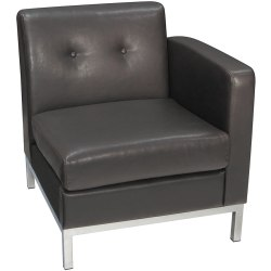 Office Star™ Avenue Six Wall Street Right Arm Chair, Espresso