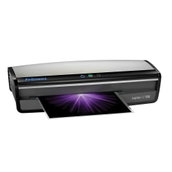 "Fellowes® Jupiter™ 2 125 12.5"" Laminator With Pouch Starter Kit, 5.12""H x 21.25""W x 8.19""D, Silver/Black"