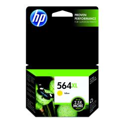 HP 564XL High Yield Yellow Original Ink Cartridge (CB325WN)