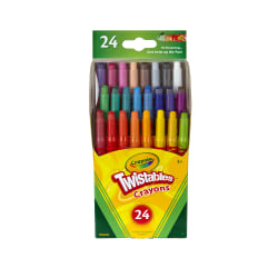 Crayola® Twistables® Crayons With Plastic Container, Mini Size, Assorted Colors, Pack Of 24 Crayons