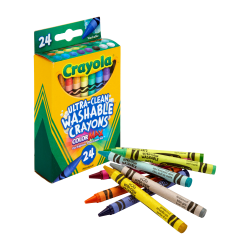 Crayola® Washable Crayons, Assorted Colors, Pack Of 24 Crayons