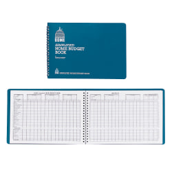 "Dome® Simplified Home Budget Book, 7 1/2"" x 10 1/2"", Teal"