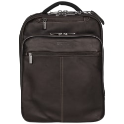 Kenneth Cole Reaction Leather Laptop Backpack, Brown