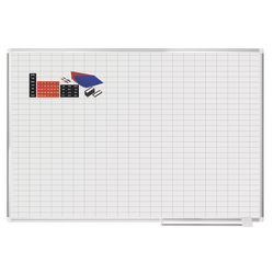 "MasterVision® Magnetic Gold Ultra™ Dry-Erase Planning Whiteboard With Accessory Kit, 48"" x 72"", Aluminum Frame With Silver Finish"