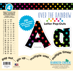 "Barker Creek® Letter Pop-Outs, 4"", Over The Rainbow, Set Of 255"