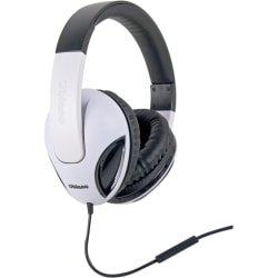 Oblanc Cobra 200 NC1 2.0 Stereo Headphone with In-line Microphone - Stereo - Mini-phone - Wired - 32 Ohm - 20 Hz - 20 kHz - Over-the-head - Binaural - Circumaural - 5.17 ft Cable - White, Black