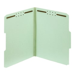 "Office Depot® Expanding Pressboard Folders With Fasteners, Letter Size (8-1/2"" x 11""), 1"" Expansion, Green, Box Of 25"
